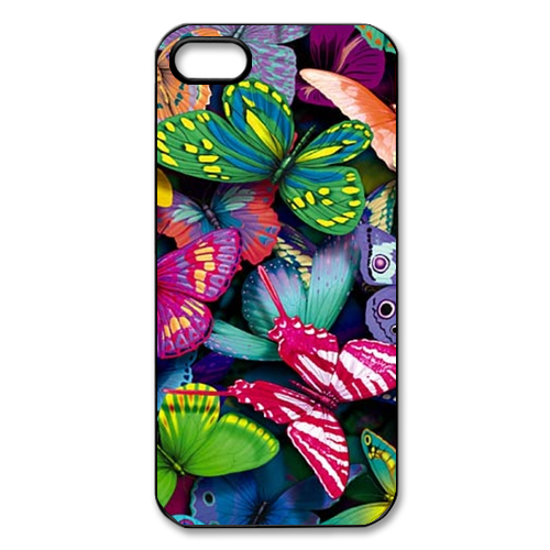 Rainbow Butterflys iPhone 5, 5s Case Cover Case for Iphone 5