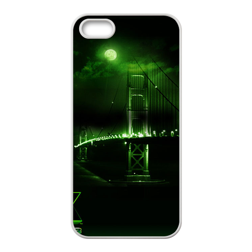 Green Night Custom Cases for iPhone 5S (TPU)