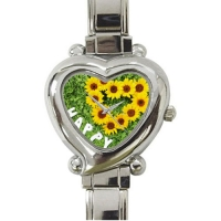 Custom Heart-Shaped Italian Charm Watch Model106