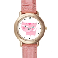 Pink Leather Alloy High-grade Watch Model201