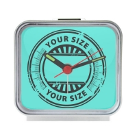 Alice in WonderLand Square Silver Alarm Clock