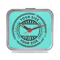 Alice in WonderLand Square Silver Alarm Clock