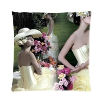 "Custom Zippered Pillow Case 16""x16""(two sides)"