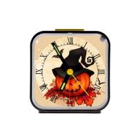 Custom Square Black Alarm Clock