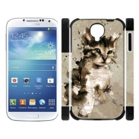 Custom Dual-Protective Case for Samsung Galaxy S4 I9500 3D
