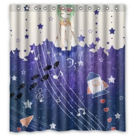 "Custom Shower Curtain 66"" x 72"""
