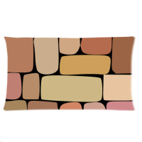 Custom Zippered Pillow Cases 20''x36'' (Twin Sides)
