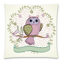 "Custom Cotton Linen Pillow Case  17""x17"" (one side)"