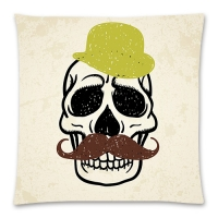 "Custom Cotton Linen Pillow Case  17""x17"" (Two sides)"