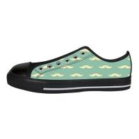 Custom Aquila Canvas Shoes for Men Model018(black)