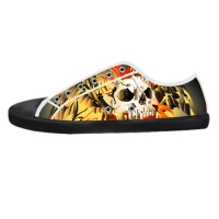 Custom Canvas Shoes for Men Model016 (Black)
