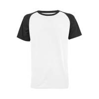 Custom Men's Raglan T-shirt Plus-Size(USA Size) Model T11