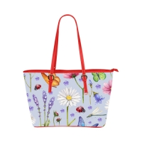 Custom Leather Tote Bag (Model51) (Small)