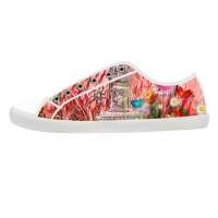 Canvas Shoes for Women  Model016 (Large Size)