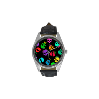 Custom Men's Casual Leather Strap Watch Model211