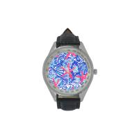 Custom Men's Leather Strap Analog Watch Model209