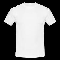 Men's classic white t-shirt Model T12 (One Side)