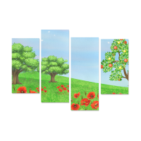 4 Piece Canvas Art Posters Y