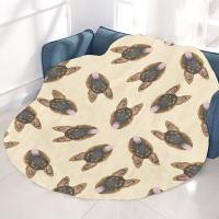 """Circular Micro Fleece Blanket 60"""""""