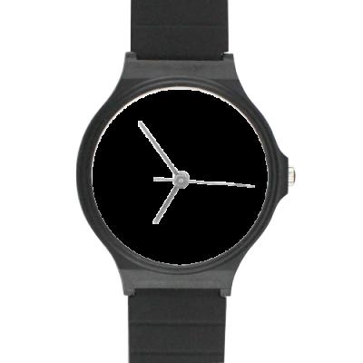Custom Black Plastic High Quality Watch(Round) Model302