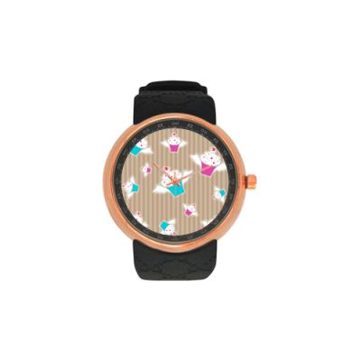 Custom Men's Rose Gold Resin Strap Watch Model308