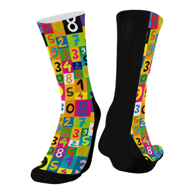 Fashionable Crew Socks (Black Bottom)