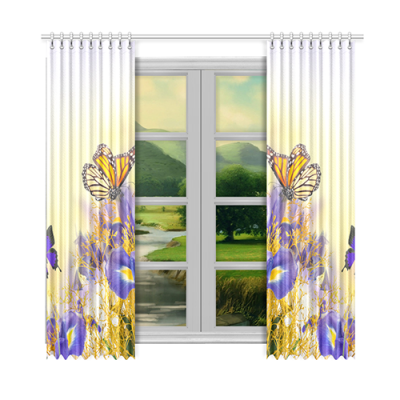 "Custom Window Curtain 52""x108""(Two Piece)"