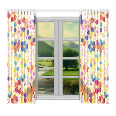 "Custom Window Curtain 52""x96""(Two Piece)"