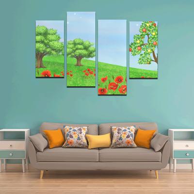 4 Piece Canvas Art Posters Y