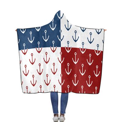Flannel Hooded Blanket 56''x80''