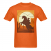 Men's Heavy Cotton T-Shirt/Large (Two Side Printing)